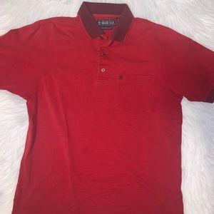 Grand Slam men medium red polo shirt B